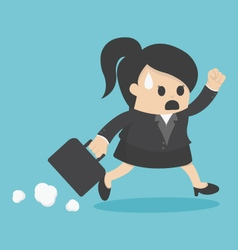 business woman Late for Work vector image