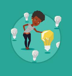 businesswoman having business idea vector image