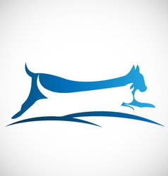 Cat and dog logo vector