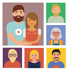 Characters set vector image vector image
