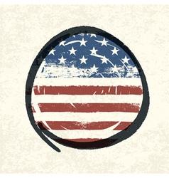circle shaped usa flag vector image