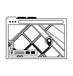 Computer window technology hardware cartoon in vector