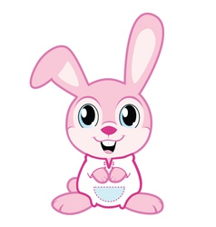 Cute baby bunny in pajamas vector