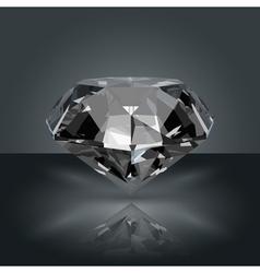 Dark gemstone diamond vector
