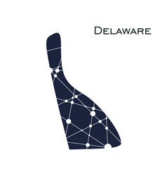 delaware state map vector image