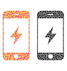 Dot smartphone electricity mosaic icons vector