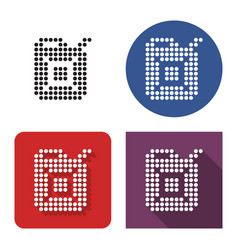 dotted icon fuel canister in four variants vector image
