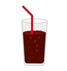 Drink glass soda beverage isolated icon vector