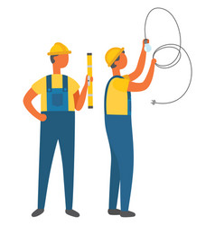 electric occupation electrician with tube vector image