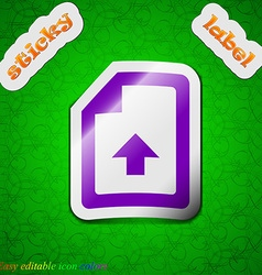 Export upload file icon sign symbol chic colored vector
