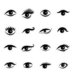 eye icons isolated on white background vector image