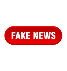 Fake news button rounded sign on white background vector