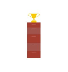 flat style icon of winner cup trophy award vector image