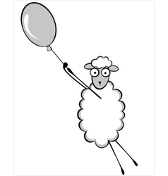 Funny young sheep vector image