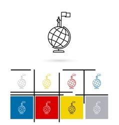 Globe win icon vector image