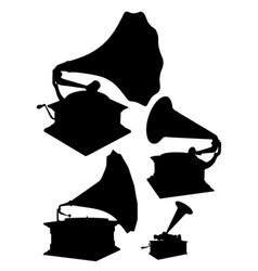 gramophones set vector image