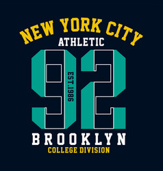 graphic design brooklyn for shirt and print vector image