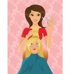 Hairdresser at work vector