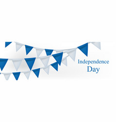 Happy israel independence day banner with vector