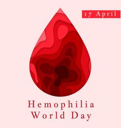 Hemophilia world day poster emblem medical sign vector