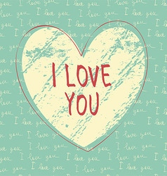 I love you hand draw card vector