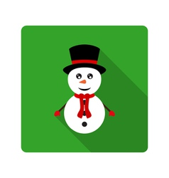 Icon Snowman for flat design vector image