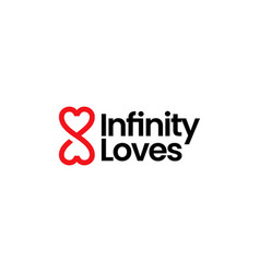 Infinity love heart mobius limitless forever logo vector