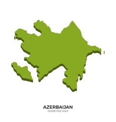 Isometric map of azerbaijan detailed vector