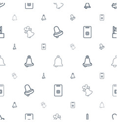 jingle icons pattern seamless white background vector image