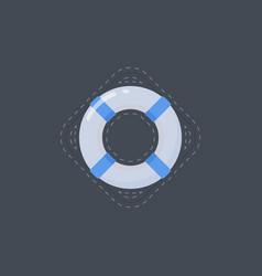 Life buoy flat icon vector