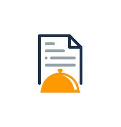 Menu document logo icon design vector