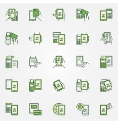 NFC colorful icons vector image