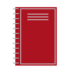 notebook of red color closeup vector image