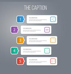 Outline marketing set button publish keypad vector