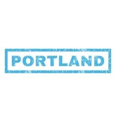 Portland Rubber Stamp vector image