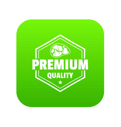 premium meat quality icon green vector image