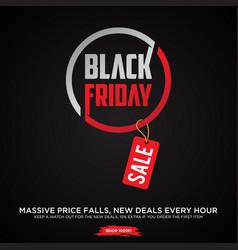 promotion design letter black friday sale banner vector image