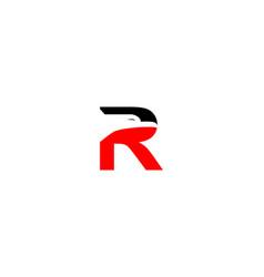 r letter eagle logo vector image
