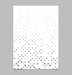 Repeating dot pattern brochure template background vector