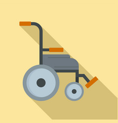 Safety wheelchair icon flat style vector