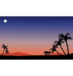 Scenery fields at night vector