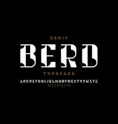 serif typeface modern font design alphabet vector image