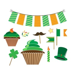 set of icons for stpatricks day vector image