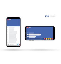 social media mobile app new feed home page trend vector image