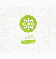 Spa retreat organic eco background nature vector