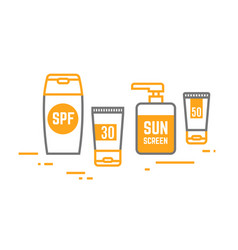 sun cream containers vector image