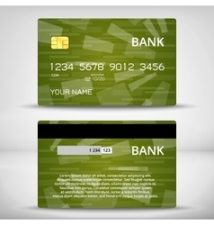Templates of credit cards design vector image