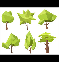the different conceptual green trees with the vector image