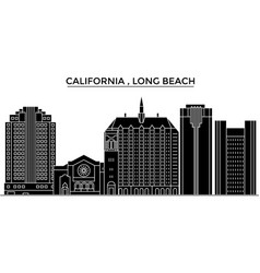 Usa california long beach architecture vector