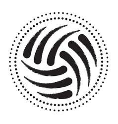 volleyball black halftone vector image
